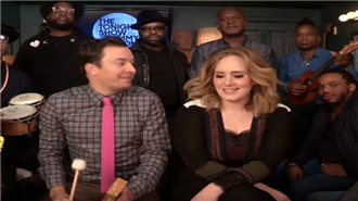 Adele ve Jimmy Fallon Hello Cover`ı