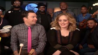 Adele ve Jimmy Fallon Hello Cover`ı