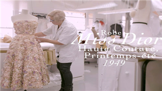 Miss Dior Couture elbisesinin yapılışı